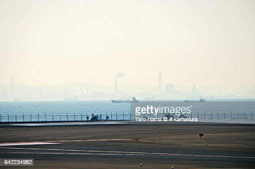 Chiba industry area view from Haneda airport
