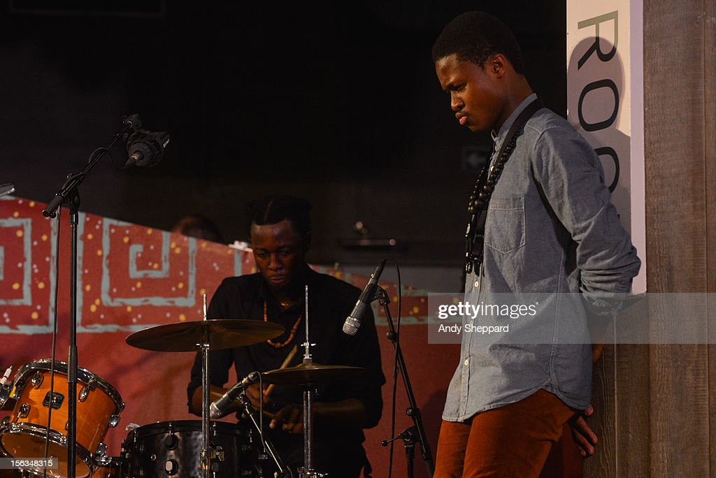 Chibike Odukwe and David Turay of the band Psylus perform on stage during the London Jazz Festival 2012 on November 13, 2012 in London, United Kingdom.