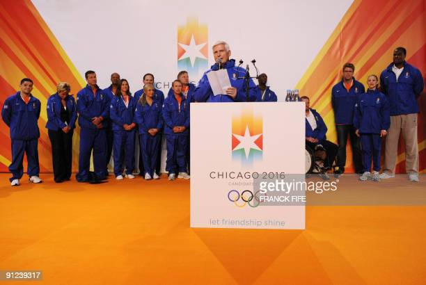 Chicago 2016 Chairman and CEO Patrick Ryan speaks to the press on September 29 2009 in Copenhagen The International Olympic Committee will vote on...