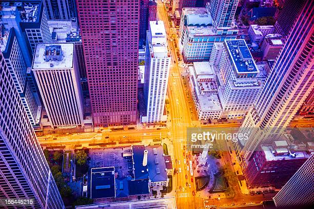 Chicago areal view from above