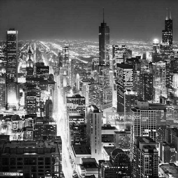 Chicago at night, USA