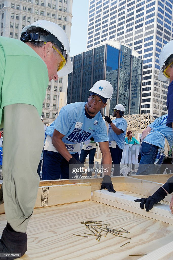 Chicago Bear Kyle Fuller helps kick off Habitat for Humanity's 'Raise Your Hand Chicagoland,' an unprecedented building blitz in the heart of downtown Chicago. From May 29 through June 1 at Pioneer Court Plaza, volunteers will come together with partner families to complete the initial construction of 13 homes. Immediately following, these new homes will be taken into communities across the region, where they will be finished and become a place 13 families can call their own. Those across the area are invited to attend 'Raise Your Hand Chicagoland' to tour a Habitat home, participate in family-friendly activities and learn more about Habitat for Humanity in Chicagoland, including future volunteer opportunities. Chicagoans can also show their support virtually using #RYHC and following Habitat for Humanity on Facebook, Twitter and Instagram (@ChicagoHabitat). For more information, visit chicagolandhabitat.org/RYHC.