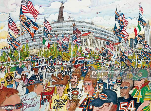 Chicago Bears Fans by Mark McMahon
