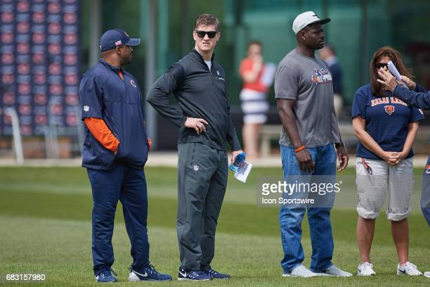 Chicago Bears General Manager Ryan Pace looks on during the Chicago Bears Rookie Camp on May 13 2017 at Halas Hall in Lake Forest IL