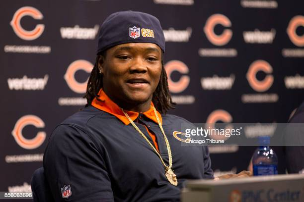 Chicago Bears inebacker Danny Trevathan during a news conference at Halas Hall on March 10 in Lake Forest Ill