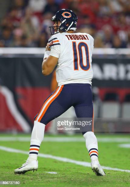 Chicago Bears quarterback Mitchell Trubisky during a National Football League preseason game between the Chicago Bears and the Arizona Cardinals on...