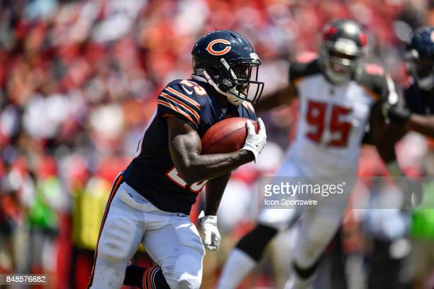 Chicago Bears running back Tarik Cohen during an NFL football game between the Chicago Bears and the Tampa Bay Buccaneers on September 17 at Raymond...