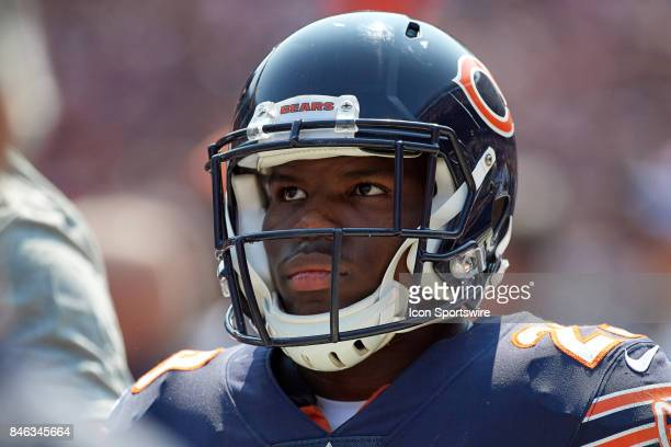 Chicago Bears running back Tarik Cohen looks on during an NFL football game between the Atlanta Falcons and the Chicago Bears on September 10 2017 at...
