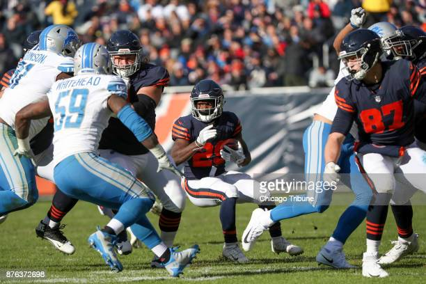 Chicago Bears running back Tarik Cohen runs the ball during the first half against the Detroit Lions on Sunday Nov 19 2017 at Soldier Field in...