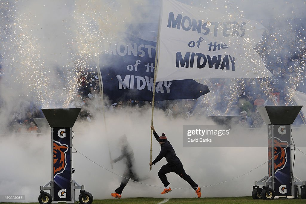 Chicago Bears take the field against the Baltimore Ravens on November 17, 2013 at Soldier Field in Chicago, Illinois.