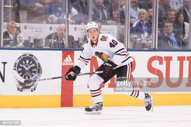 Chicago Blackhawks right wing John Hayden skates up ice in the first period during the Toronto Maple Leafs game versus the Chicago Blackhawks on...