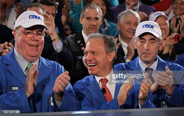 Chicago Board Options Exchange President and COO Edward Joyce CBOE Chairman and CEO William Brodsky and NASDAQ OMX Vice Chairman Sandy Frucher...
