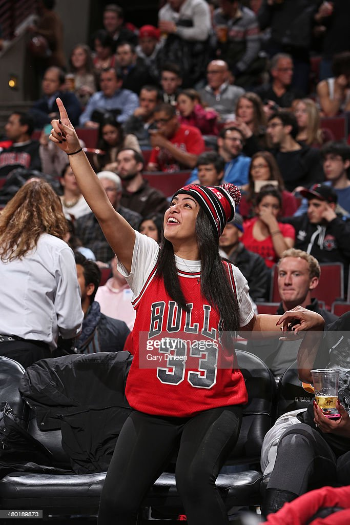 A Chicago Bulls fan watches the game against the New Orleans Pelicans on December 2, 2013 at the United Center in Chicago, Illinois.