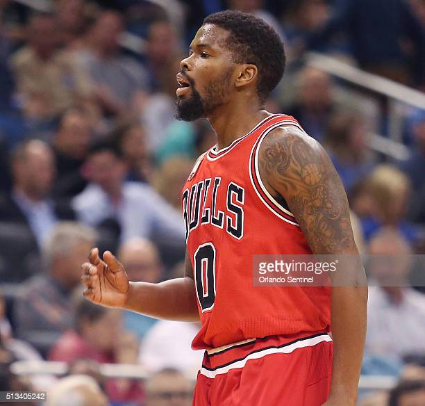Chicago Bulls guard Aaron Brooks walks off the court after being ejected on Wednesday March 2 at the Amway Center in Orlando Fla