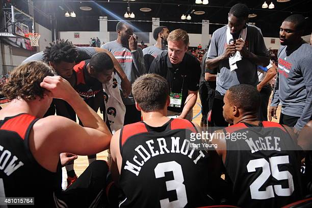 Chicago Bulls head coach Fred Hoiberg during the game against the Toronto Raptors on July 16 2015 at Cox Pavilion Las Vegas Nevada NOTE TO USER User...