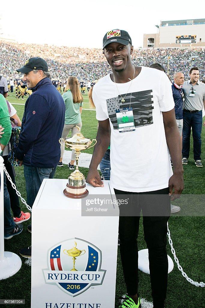 Ryder Cup Trophy Visits Michigan State v Notre Dame Football