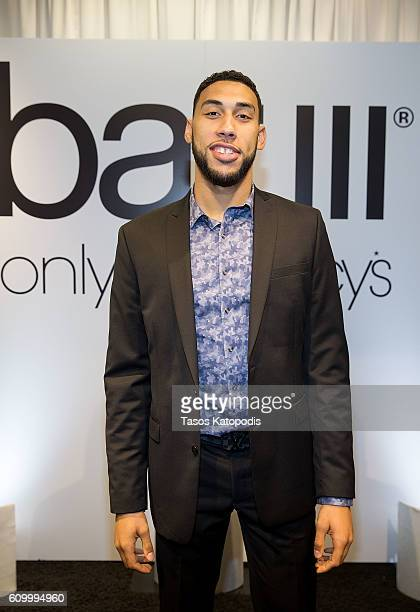 Chicago Bulls rookie Denzel Valentine at the Bar III event at Macy's State Street on September 23 2016 in Chicago Illinois