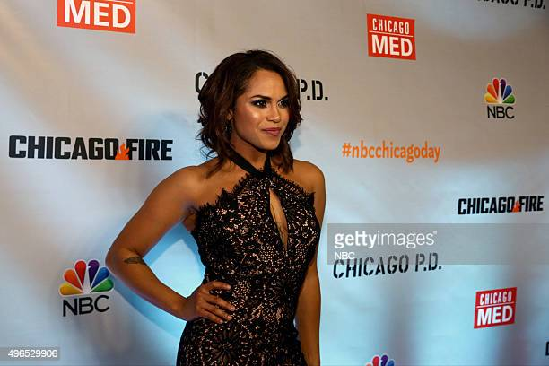 EVENTS 'NBC Chicago Celebration Party' Pictured Monica Raymund 'Chicago Fire' at STK Chicago on November 9 2015
