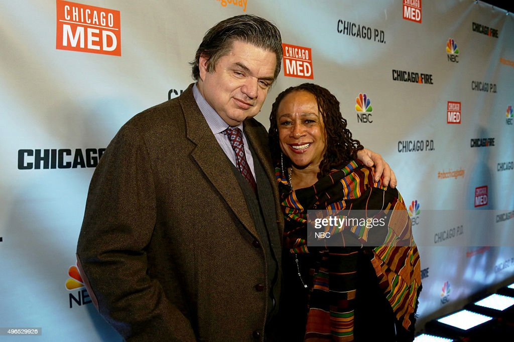 EVENTS 'NBC Chicago Celebration Party' Pictured Oliver Platt and S Epatha Merkerson 'Chicago Med' at STK Chicago on November 9 2015