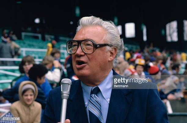 Chicago White Sox baseball broadcaster Harry Caray before opening day game