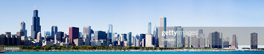 Chicago City Grant Park Skyline USA : Stock Photo