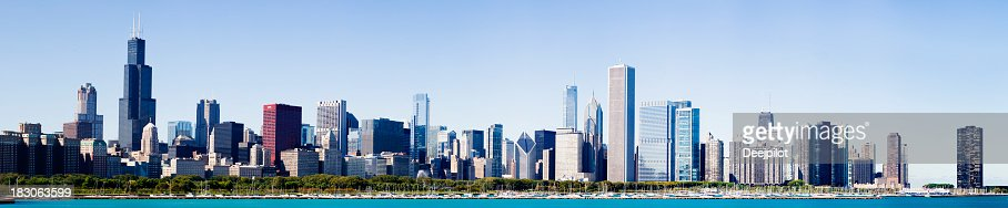 Chicago City Grant Park Skyline USA