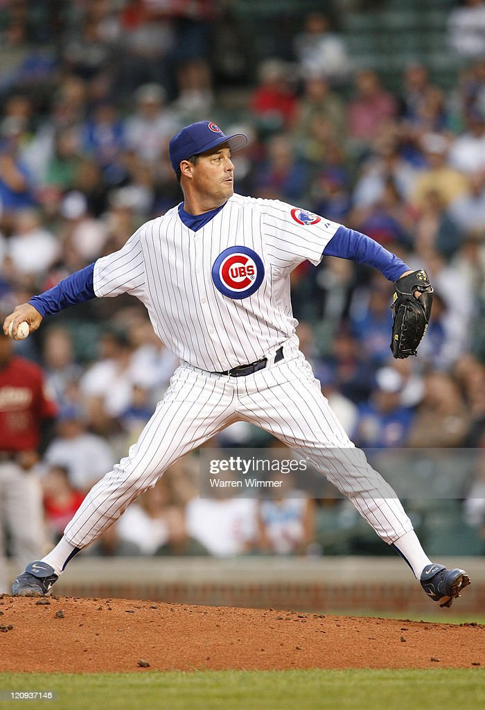 Chicago Cub pitcher, <a gi-track='captionPersonalityLinkClicked' href=/galleries/search?phrase=Greg+Maddux&family=editorial&specificpeople=202173 ng-click='$event.stopPropagation()'>Greg Maddux</a> on the mound during game action at Wrigley Field, Chicago, Illinois USA, June 14, 2006. The Astros leading the Cub's by a score of 4 to 2 after 3 innings.
