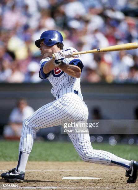 Chicago Cubs 2nd Baseman Ryne Sandberg seen batting in 1989 will be inducted into Baseball's Hall of Fame July 31 2005 in Cooperstown New York