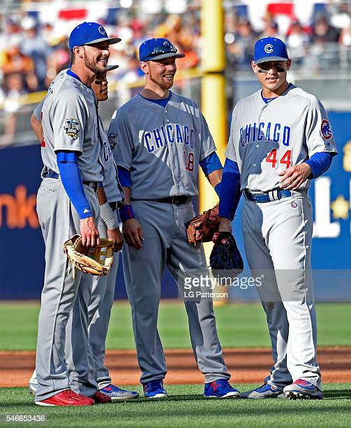 Chicago Cubs AllStars are seen in the infield during the 2016 MLB AllStar Game at Petco Park on Tuesday July 12 2016 in San Diego California