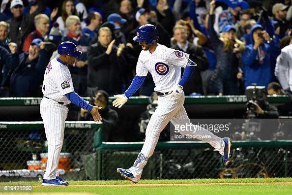 Image result for 2016 world series game 5 bryant home run