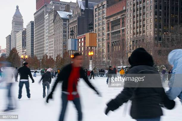 Chicago Downtown Ice Skating