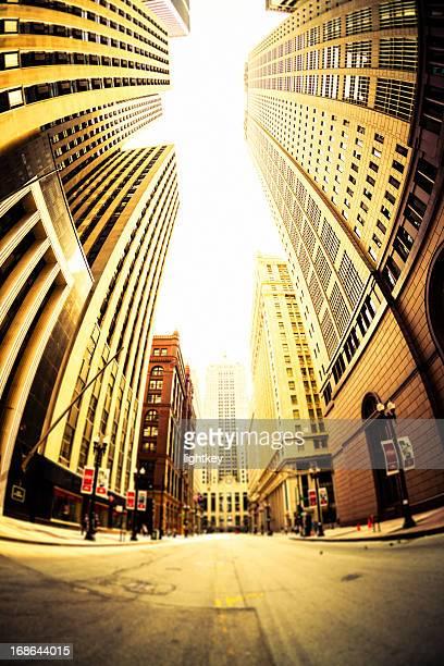 El centro de la ciudad de Chicago rascacielos, Estados Unidos.