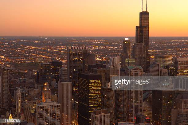 Chicago downtown view.