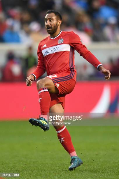 Chicago Fire forward Arturo Alvarez watches the ball during a game between the Philadelphia Union and the Chicago Fire on October 15 at Toyota Park...