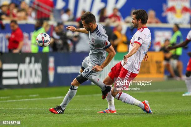 Chicago Fire forward Luis Solignac during the first half of the Major League Soccer game between the New York Red Bulls and Chicago Fire played on...
