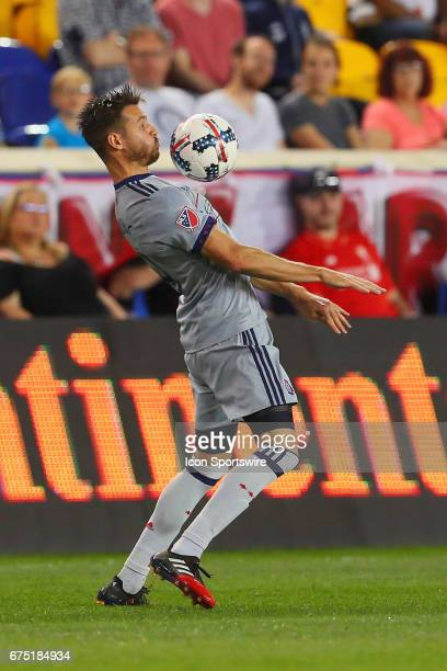 Chicago Fire forward Luis Solignac during the second half of the Major League Soccer game between the New York Red Bulls and Chicago Fire played on...