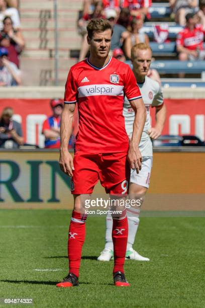 Chicago Fire forward Luis Solignac in the first half during an MLS soccer match between Atlanta United FC and the Chicago Fire on June 10 at Toyota...