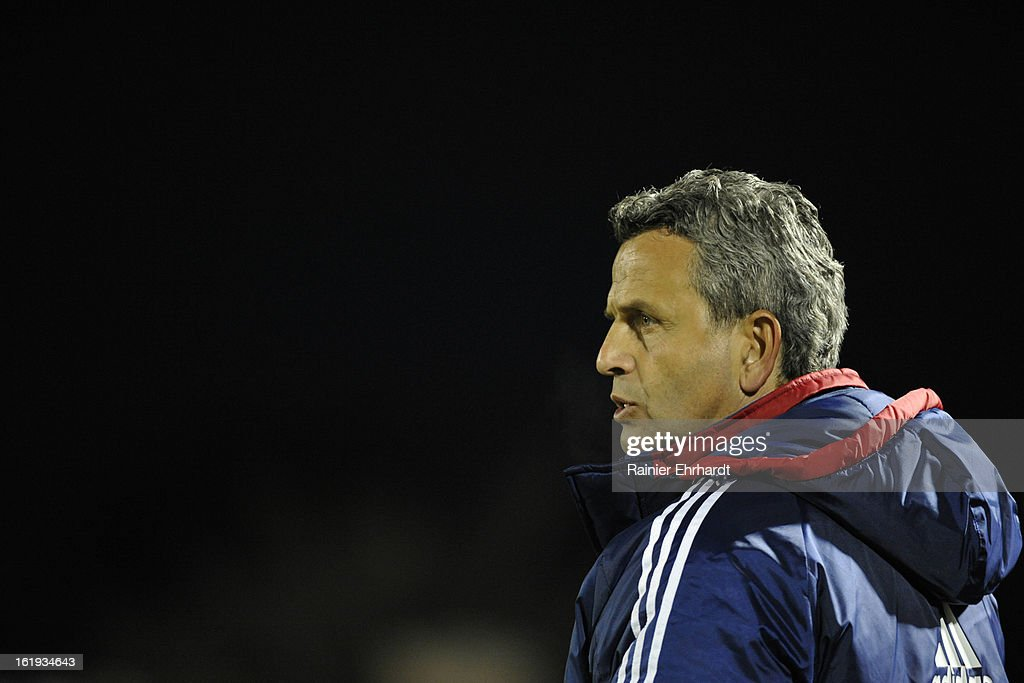 Chicago Fire head coach Frank Klopas looks on during the second half of their game against the Houston Dynamo at Blackbaud Stadium on February 16, 2013 in Charleston, South Carolina.