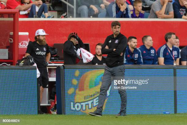 Chicago Fire head coach Veljko Paunovic in the first half during an MLS soccer match between Orlando City FC and the Chicago Fire on June 24 at...