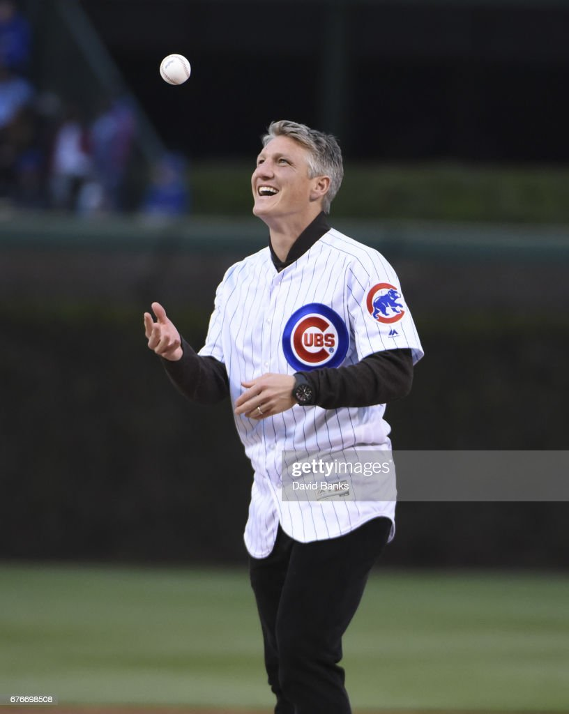 Bastian Schweinsteiger Throws A Pitch Soccer Player Bastian