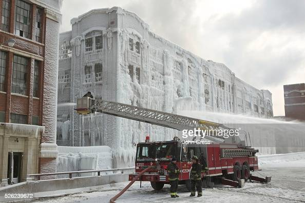 Chicago Firefighters continue to battle a warehouse fire for a third day in Chicago January 24 2013 Fire Department officials said it is the biggest...