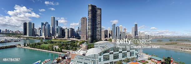 Chicago from the Ferris Wheel of Navy Pier