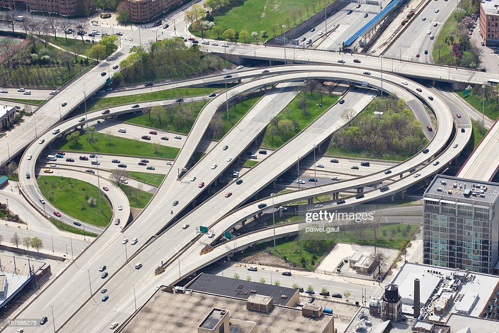 Chicago Highway Overpass, Aerial View