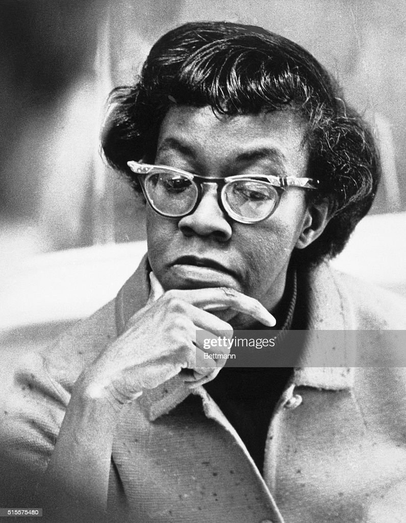 'Curious words, these 'I'm rather old, you know, and inarticulate' coming from Pulitzer Prize-winning poetess Gwendolyn Brooks, as she stirred a cup of black coffee during recent interview. Now 55, Miss Brooks is the Poetess with the sad humor of the street.. A haughty Black Queen whose lines range from low blues and funeral chants to the high laughter of the city. She's shown here in an undated photo placed in NY files in 1972.'
