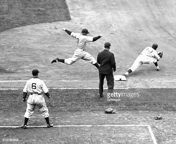 Original caption reads as followsThus did the playbyplay account of the first inning of the fourth game of the World's Series at Wrigley Fieldhere...