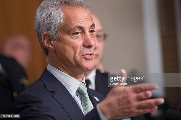 Chicago Mayor Rahm Emanuel addresses changes in training and procedures that will take place at the Chicago police department in the wake of recent...