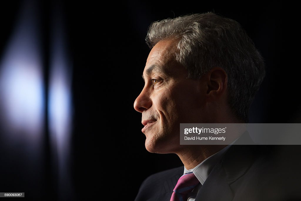 Chicago Mayor Rahm Emanuel at City Hall during his interview for 'The Presidents' Gatekeepers' about former White House Chiefs of Staff October 28 in...