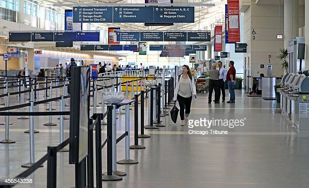 Chicago Midway International Airport is largely empty of travelers on Thursday Oct 2 after Southwest Airlines canceled all outgoing flights in the...