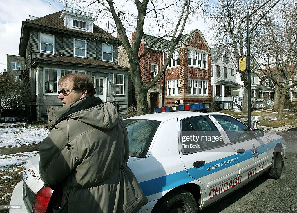 Chicago Police department investigator works near the home of US District Judge Joan Lefkow March 11, 2005 in Chicago, Illinois. Lefkow's husband Michael Lefkow and mother, Donna Humphrey, were murdered February 28 in the Lefkow?s home. Investigators have a DNA match found on a cigarette butt at the crime scene linking a Chicago citizen Bart Ross to the double murder. Ross, who allegedly claimed responsibility for the crime via numerous notes, committed suicide in West Allis, Wisconsin on March 9.