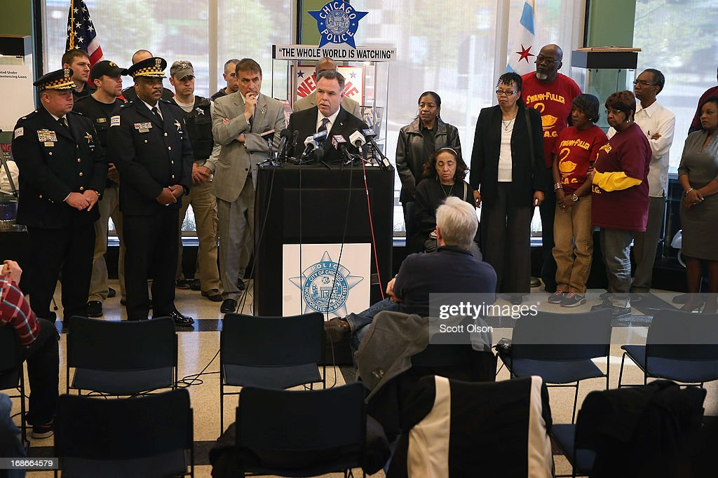 Chicago Police Superintendent <a gi-track='captionPersonalityLinkClicked' href=/galleries/search?phrase=Garry+McCarthy&family=editorial&specificpeople=6268988 ng-click='$event.stopPropagation()'>Garry McCarthy</a> holds a press conference to announce his department had seized more that 2,500 illegal firearms in 2013 on May 13, 2013 in Chicago, Illinois. Three people were shot and killed and at least six others were wounded in gun violence in the city this past weekend.